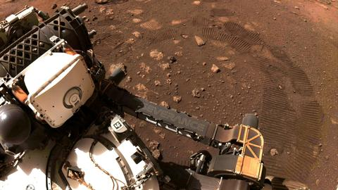 Mars rover Perseverance takes first spin on red planet surface