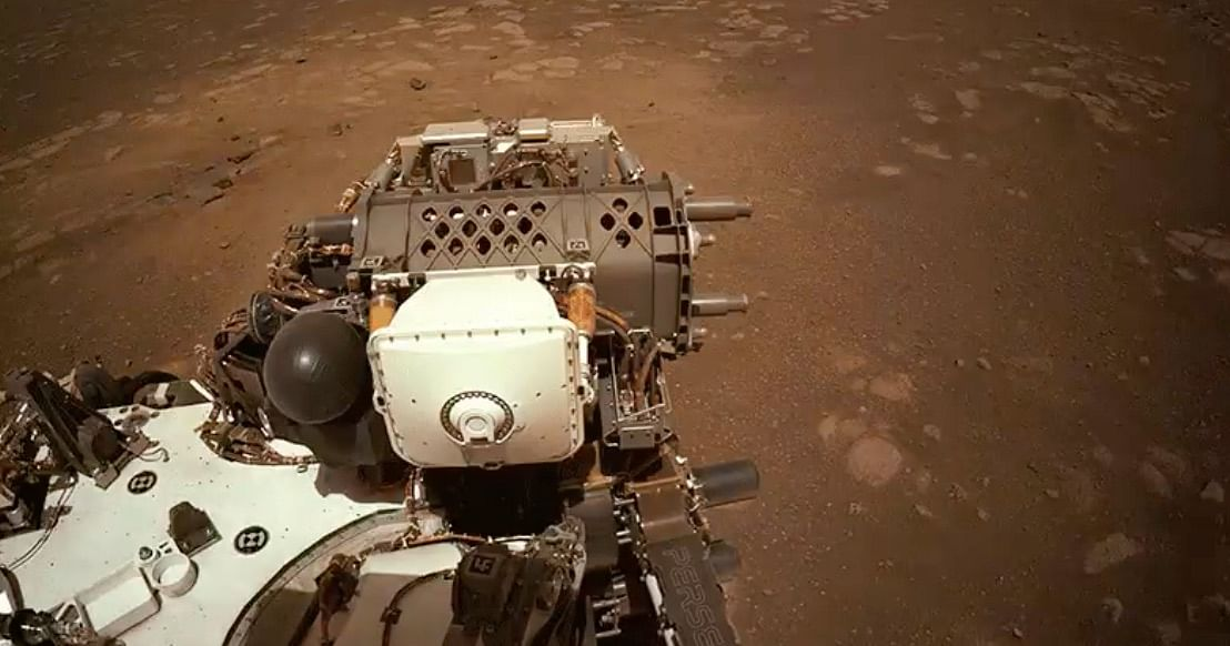 NASA's Perseverance Rover Takes First Test Drive on Mars